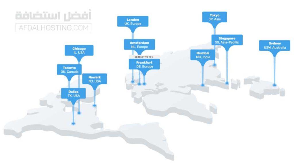 مواقع مراكز بيانات فاست كوميت